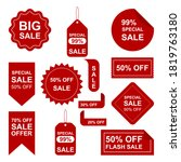 sale label collection for... | Shutterstock .eps vector #1819763180