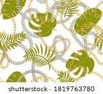 seamless tropical summer... | Shutterstock .eps vector #1819763780