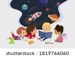 illustration of multiracial... | Shutterstock .eps vector #1819766060