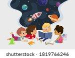 illustration of multiracial... | Shutterstock . vector #1819766246