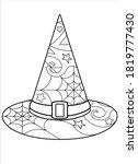 witch hat   nantistress... | Shutterstock .eps vector #1819777430
