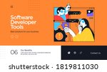 landing page template of... | Shutterstock .eps vector #1819811030