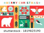 merry christmas greeting card... | Shutterstock .eps vector #1819825190