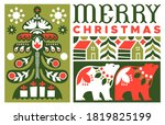 merry christmas greeting card... | Shutterstock .eps vector #1819825199