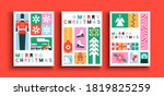 merry christmas greeting card... | Shutterstock .eps vector #1819825259