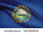 State Of New Hampshire Flag...