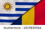 Two States Flags Of Uruguay And ...