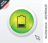 battery low level sign icon....