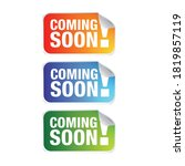 coming soon label tag vector | Shutterstock .eps vector #1819857119