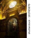Rome  Italy   April  19  Statue ...