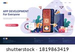 app development flat landing...