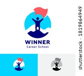 the winner icon. hr agency logo.... | Shutterstock .eps vector #1819864949