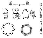 black and white hand drawn... | Shutterstock .eps vector #1819866176