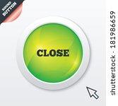 close sign icon. cancel symbol. ...