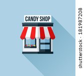 vector icon of stylish shop or...