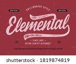 original brush script font ...   Shutterstock .eps vector #1819874819