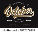 original brush script font ...   Shutterstock .eps vector #1819877003