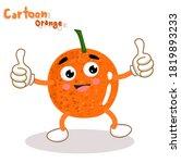 cartoon funny orange character...