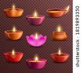 diwali diya lamps on...   Shutterstock .eps vector #1819893350