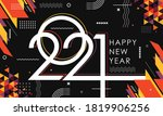 happy new year 2021 banner with ... | Shutterstock .eps vector #1819906256