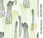 spring asparagus hand drawn... | Shutterstock .eps vector #181992389