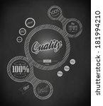 design web elements  of drawing ... | Shutterstock . vector #181994210