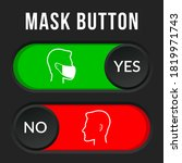 mask required warning... | Shutterstock .eps vector #1819971743