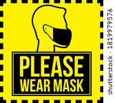 vector attention sign  please... | Shutterstock .eps vector #1819979576