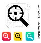 magnifier crosshair icon. | Shutterstock . vector #181998899