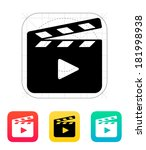 clapperboard open icon.