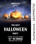 happy halloween holiday party... | Shutterstock .eps vector #1819990733