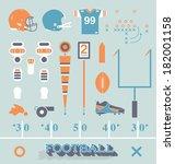 vector set  football equipment... | Shutterstock .eps vector #182001158