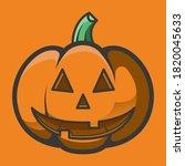 smiling jack o lantern vector... | Shutterstock .eps vector #1820045633