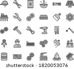 thin line gray tint vector icon ... | Shutterstock .eps vector #1820053076