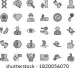 thin line gray tint vector icon ... | Shutterstock .eps vector #1820056070