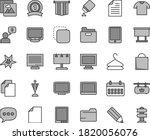 thin line gray tint vector icon ... | Shutterstock .eps vector #1820056076
