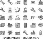 thin line gray tint vector icon ... | Shutterstock .eps vector #1820056079