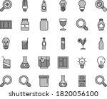 thin line gray tint vector icon ... | Shutterstock .eps vector #1820056100
