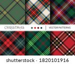 Seamless Vector Plaid Patterns. ...