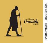 mahatma gandhi jayanti 2 october   Shutterstock .eps vector #1820106536
