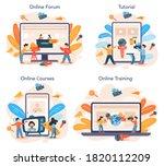 tv presenter online service or... | Shutterstock .eps vector #1820112209