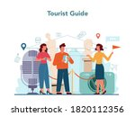 Tour Vacation Guide Concept....