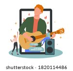 online concert. musician or... | Shutterstock .eps vector #1820114486