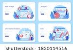 website analyst web banner or... | Shutterstock .eps vector #1820114516