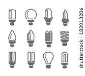 light lamps icon | Shutterstock .eps vector #182013206