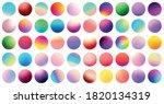 set of bright multicolored... | Shutterstock .eps vector #1820134319