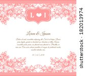 wedding invitation cards with... | Shutterstock . vector #182013974