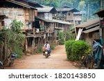 A Small Rural Village  A Hill...