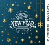 new year greeting card with... | Shutterstock .eps vector #1820151950