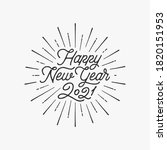 happy new year 2021 vector text ... | Shutterstock .eps vector #1820151953